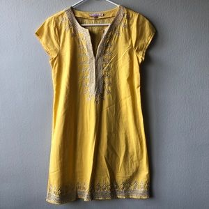 Calypso St. Barth yellow / gold tunic dress